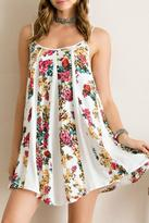 Entro Blooming Lace-Up Dress