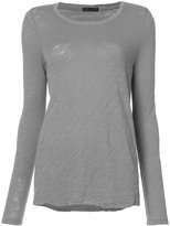 ATM Anthony Thomas Melillo scoop neck T-shirt - women - Cotton - XS
