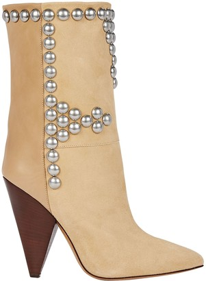 Isabel Marant Layo Studded Suede Ankle Boots