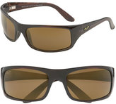 Maui Jim Men's 'Peahi - Polarizedplus2' 67Mm Sunglasses - Tortoise / Hcl Bronze Lens
