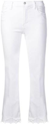 J Brand Lace Hem Jeans