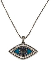 Sydney Evan 14K Diamond & Sapphire Swivel Evil Eye Pendant Necklace