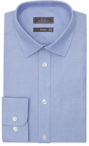 John Lewis End On End Tailored Shirt, Blue