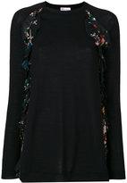 RED Valentino printed sweater - women - Silk/Polyester/Spandex/Elastane/Virgin Wool - S
