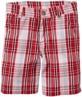 E-Land Kids Plaid Shorts (Toddler/Kid) - Red-6