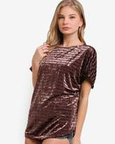 Velvet Effect Tunic Top