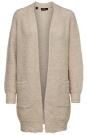 Selected Lulu Beige Wool Blend Cardigan - S
