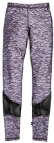 Terez Girls' Heather Print Mesh Inset Leggings - Sizes 7-16