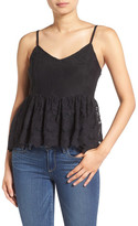 Ella Moss &Olivier& Embroidered Lace Peplum Camisole
