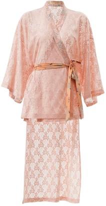 Supersweet X Moumi Shirley Kimono Salmon Pink Lace