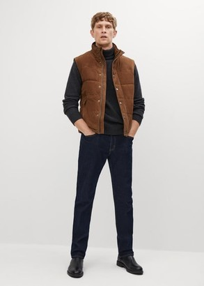 MANGO Suede quilted gilet