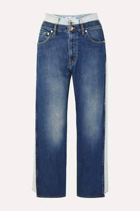 Maison Margiela Layered Low-rise Boyfriend Jeans - Blue