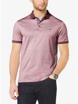 Michael Kors Chambray-Trim Cotton-Pique Polo Shirt