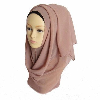 "London Scarfs Ladies""Chiffon"" Oversized Plain Scarf Women Top Quality Large Maxi Hijab Shawl (Rust)"