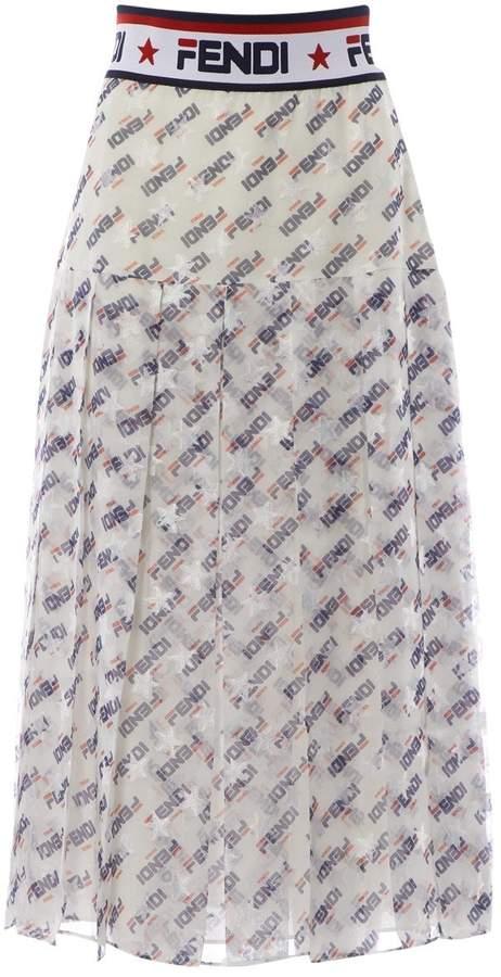 Fendi White Silk Skirts
