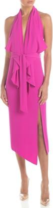 Misha Collection Lorena Drape Halter Dress