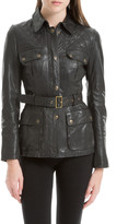 Max Studio Soft Quilted Leather Jacket