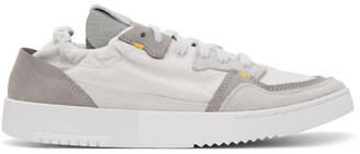 BED J.W. FORD Grey and White adidas Originals Edition Supercourt Low-Top Sneakers