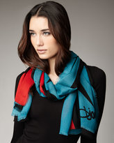 Hanova Scarf, Big Wing Blue