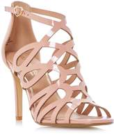 Head Over Heels by Dune MAE - NUDE Caged Laser Cut High Heel Sandal