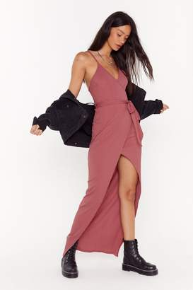 Nasty Gal Womens Stretch Your Legs Ribbed Maxi Dress - pink - 6
