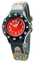 Baby Watch – 3700230605989 – Zap Tournament – Boys 'Watch – Analogue Quartz – Grey Dial Red Plastic Strap