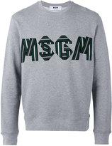 MSGM logo embroidered sweatshirt - men - Cotton/Viscose - L