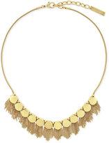 Vince Camuto Gold-Tone Fringe Disc Necklace