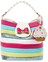 Betsey Johnson Candy Striper Bucket Bag