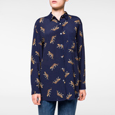Paul Smith Women's Navy 'Leopard' Pattern Shirt