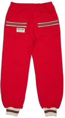 Gucci Cotton Sweatpants W/ Knit Detail