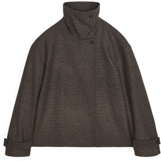 Arket High Collar Wool Jacket