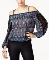 Jessica Simpson Juniors' Strappy-Back Cold-Shoulder Top