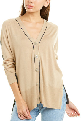 Atm Colorblocked Silk, Wool & Cashmere-Blend Cardigan