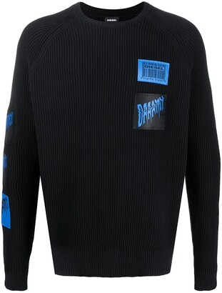 Diesel Jacquard Patch Knitted Jumper