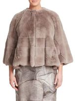 Max Mara Paneled Fur Jacket