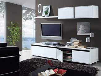 Amalia AURA Living Room TV Cabinet 200 cm - 006663BO - WHITE