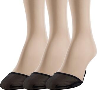 Gold Toe Women's Little Black Sock Non-Slip Short Padded Insole 3 Pairs Shoe Size: 6-9