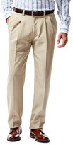 Haggar Repreve Stria Dress Pant - Straight Fit, Pleated Front, Hidden Expandable Waistband