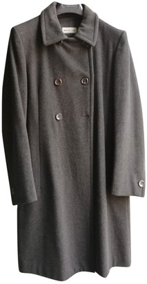 Alberto Biani Grey Wool Coats