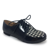 C Label Black & White Houndstooth Rae Oxford