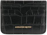 Alexander McQueen crocodile effect cardholder