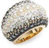 Swarovski Chic Royalty 3MM-4MM Pearl & Crystal Ring