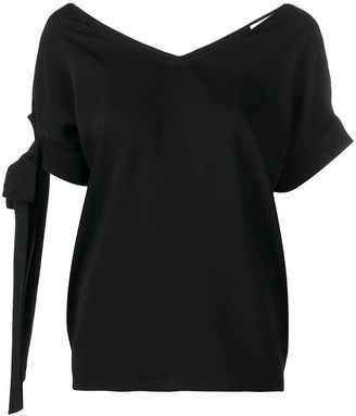 P.A.R.O.S.H. Straps On Sleeve Blouse