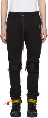 Amiri Black MX1 Moto Lounge Pants