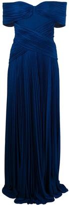 Elisabetta Franchi micro-pleated dress