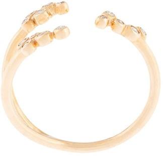 Sebastian 10kt yellow gold diamond Papilla open ring
