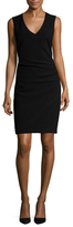 Ava & Aiden Ruched Side Sheath Dress