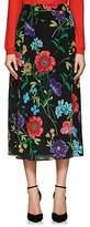 Barneys New York Women's Floral Silk Midi-Skirt