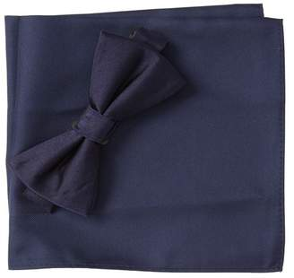 Nordstrom Rack Solid Satin Combo Bow-Tie & Pocket Square Set